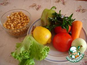 Салат из нута с помидорами – кулинарный рецепт