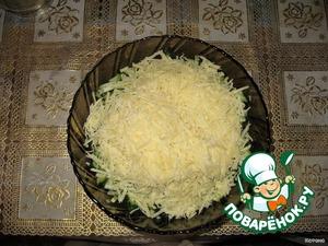 На крупной терке трем сыр.