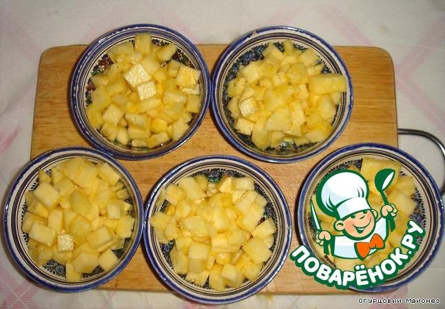 Десерт из ананаса с базиликом Танец живота