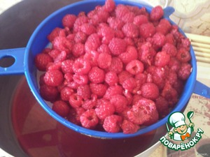 My raspberries and give good to drain.
