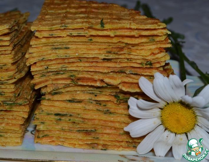 Рецепт: Луковые вафли с сыром