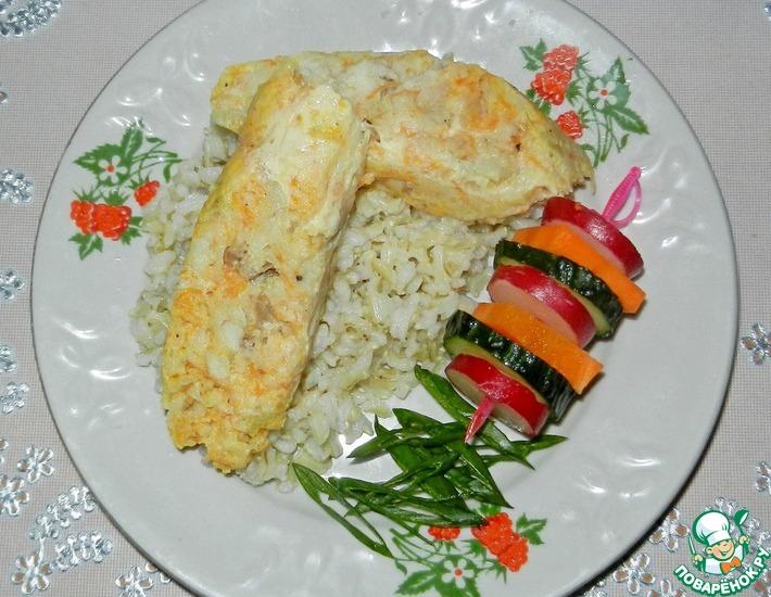 Рецепт: Рыбные колбаски с морковью