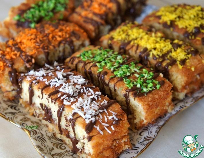 Рецепт: Кокосовые пирожные с шоколадом