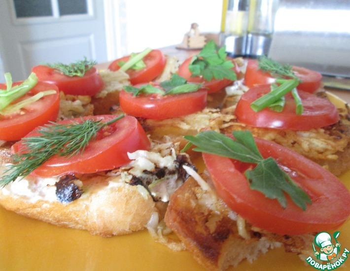 Рецепт: Бутерброды Каникулы