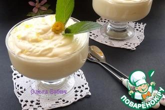 Рецепт: Десерт «Лимонный поссет»