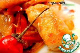 Рецепт: Курица с овощами в восточном стиле