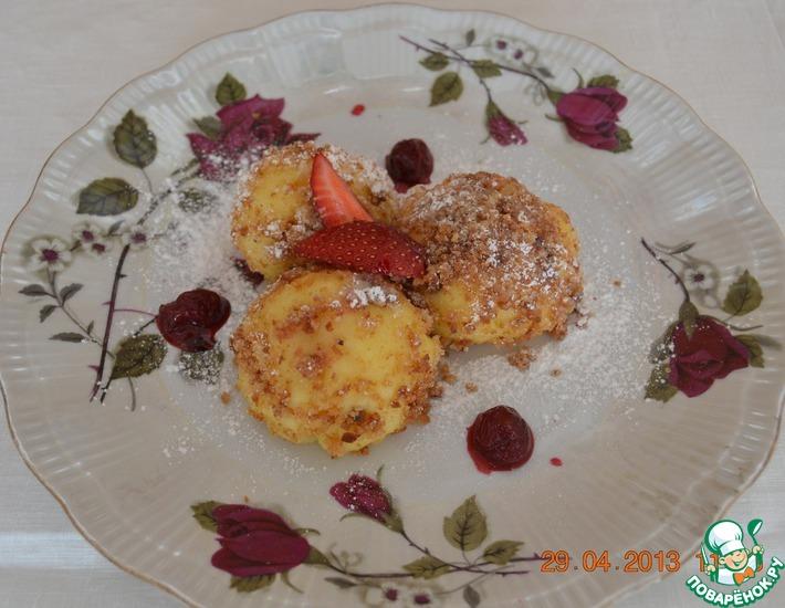 Рецепт: Кнедли с абрикосами