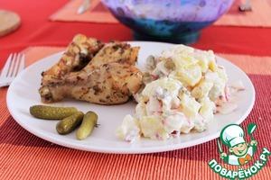 Рецепт Немецкий картофельный салат с редисом и маринованными огурчиками