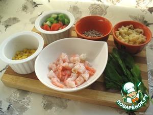 Подготовить ингредиенты для салата.