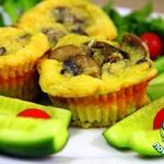 Фриттаты с грибами и сыром