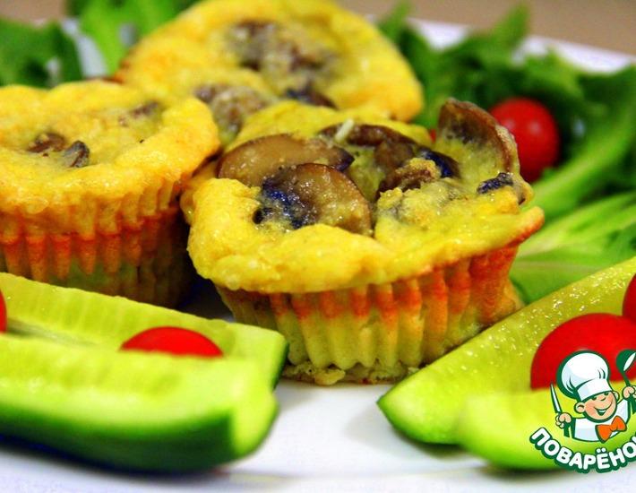 Рецепт: Фриттаты с грибами и сыром