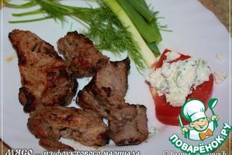 Рецепт: Мясо жареное из фруктового маринада