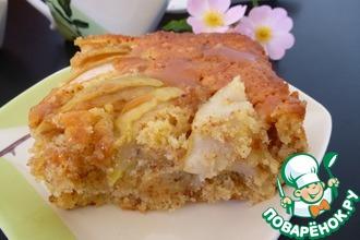 Рецепт: Яблочный кекс с миндалем