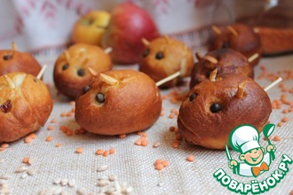 Рецепт: Пончики Мышки