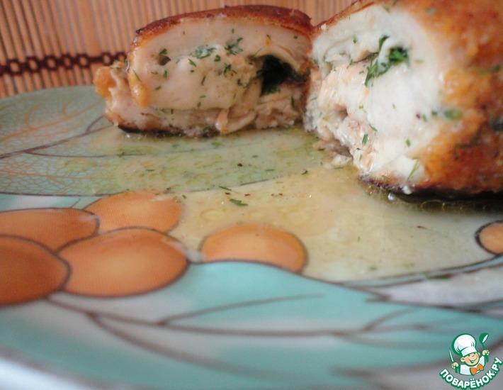 Рецепт: Котлеты по-киевски в сырной панировке