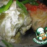Голубцы, запечeнные под сметанно-луковым соусом