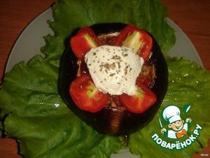 Serve the eggplant hot.   Bon appetit!
