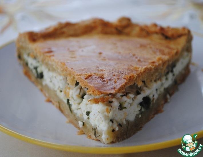 Рецепт: Пирог с сыром и шпинатом