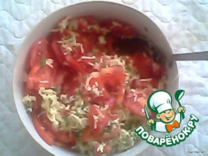 My filling was a lot, so by adding tomatoes and mayonnaise, I got a delicious salad:)