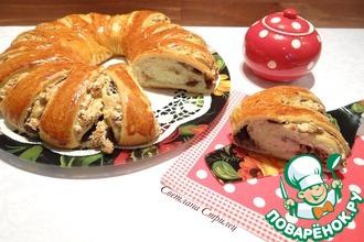 Рецепт: Пирог с меренгой, орехами и шоколадом