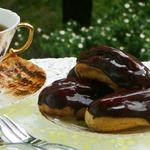 Зеркальная шоколадная глазурь для эклеров и тортов