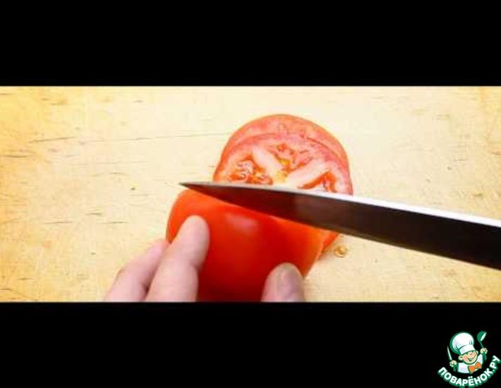 Рецепт: Домашний сэндвич с курицей и помидорами