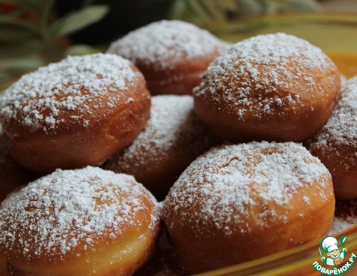 Рецепт: Немецкие пончики Берлинки