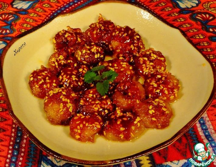Рецепт: Бананы в карамели по-тайски