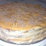 Бананово-шоколадный торт из готовых бисквитных коржей