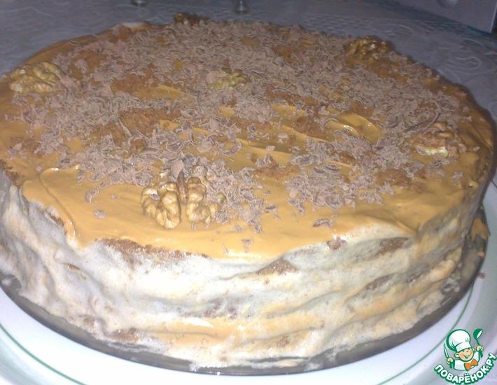 торт из покупных коржей со сгущенкой