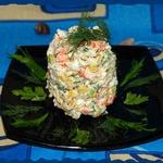 Салат из крабовых палочек с макаронами