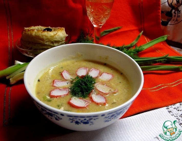 Рецепт: Крабово-сырный крем-суп
