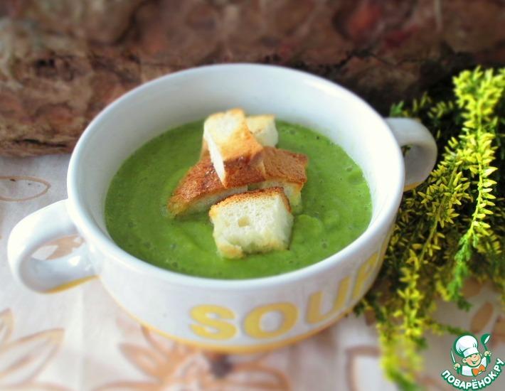 Рецепт: Суп-пюре с брокколи и болгарским перцем