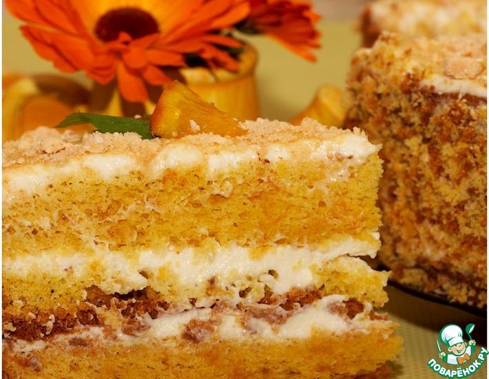 Рецепт: Апельсиновый бисквит для торта