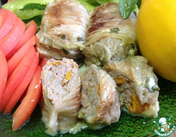 Рецепт: Голубцы из китайской капусты Чудо