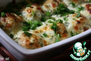 Chicken balls in a creamy sauce