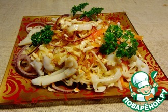 Рецепт: Салат с кальмарами по-вьетнамски