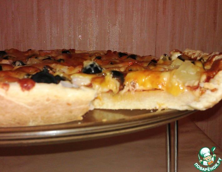 Рецепт: Десертная пицца с крабовыми палочками