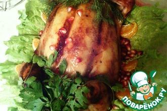 Рецепт: Курица, фаршированная блинами Курица-не птица