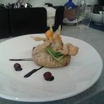Пикантная семга с базиликовым песто в мешочке из слоеного теста