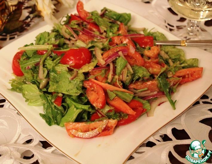 Рецепт: Салат с заправкой из пармезана