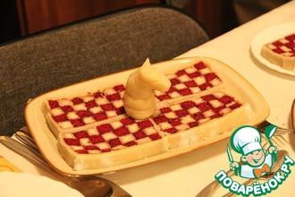 Рецепт: Пирог Шахматный в марципане