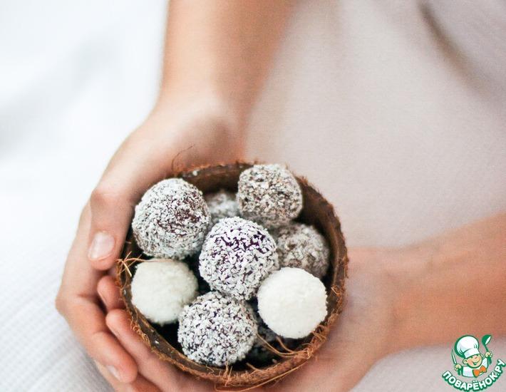 Рецепт: Кокосовые трюфели в шоколаде