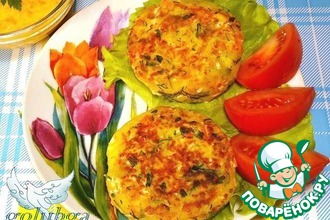 Рецепт: Картофельные биточки с крабовыми палочками и соусом