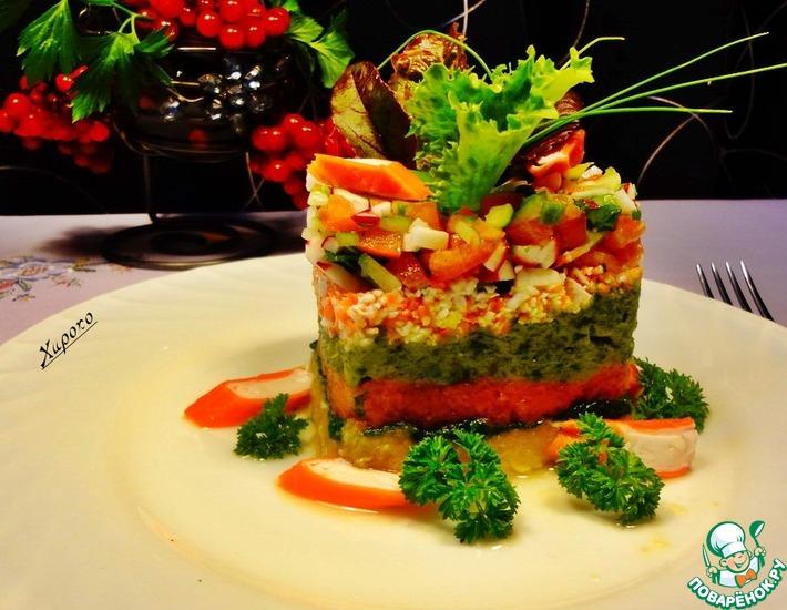 Рецепт: Тартар из овощей с крабовыми палочками