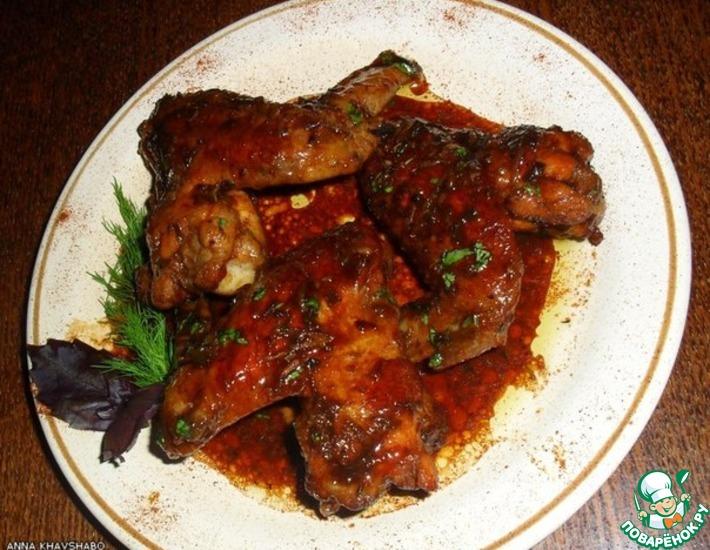 Рецепт: Куриные крылышки в пряном соусе