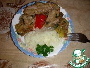 С курочкой на гарнир очень хорошо подходит рассыпчатый рис. Приятного аппетита!