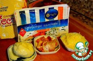 "Закуска ""Крабовые хрустяшки"" – кулинарный рецепт"