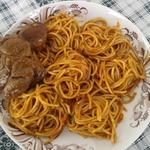 Телятина Коккинисто со спагетти