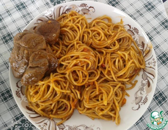 Рецепт: Телятина Коккинисто со спагетти